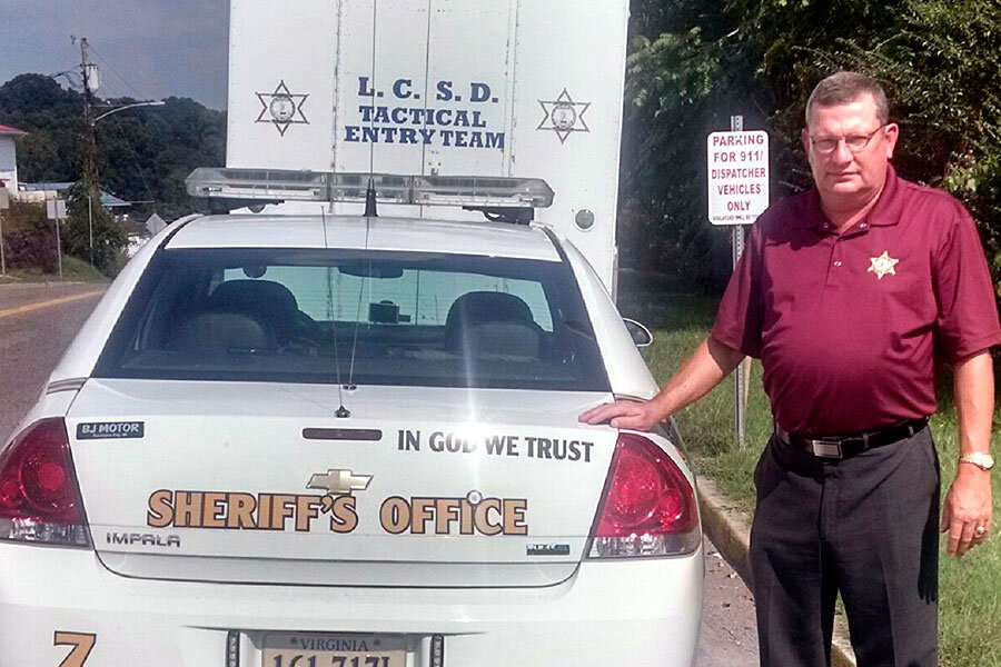 Is law enforcement use of 'In God We Trust' unconstitutional