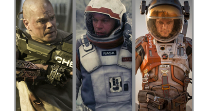 'The Martian' marks Matt Damon's third sci-fi film in as many years