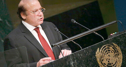 Pakistan PM Sharif proposes peace initiative with historical rival India at UN