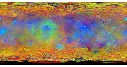 Irridescent map of Ceres: See a tantalizing view of dwarf planet