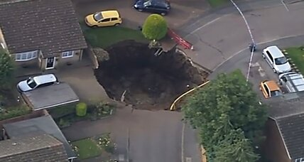 Huge sinkhole opens in British town