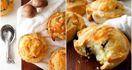 Savory mushroom and cheese biscuits