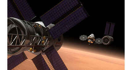 What is NASA's plan for landing humans on Mars?