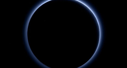 An azure sky? Pluto's 'gorgeous' blue halo intrigues scientists