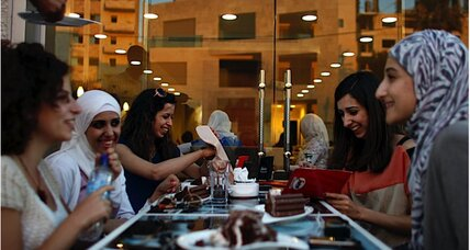 Why does Gaza have a cafe just for women?
