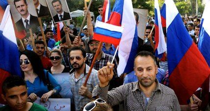Russian embassy in Syria attacked during pro-Assad rally