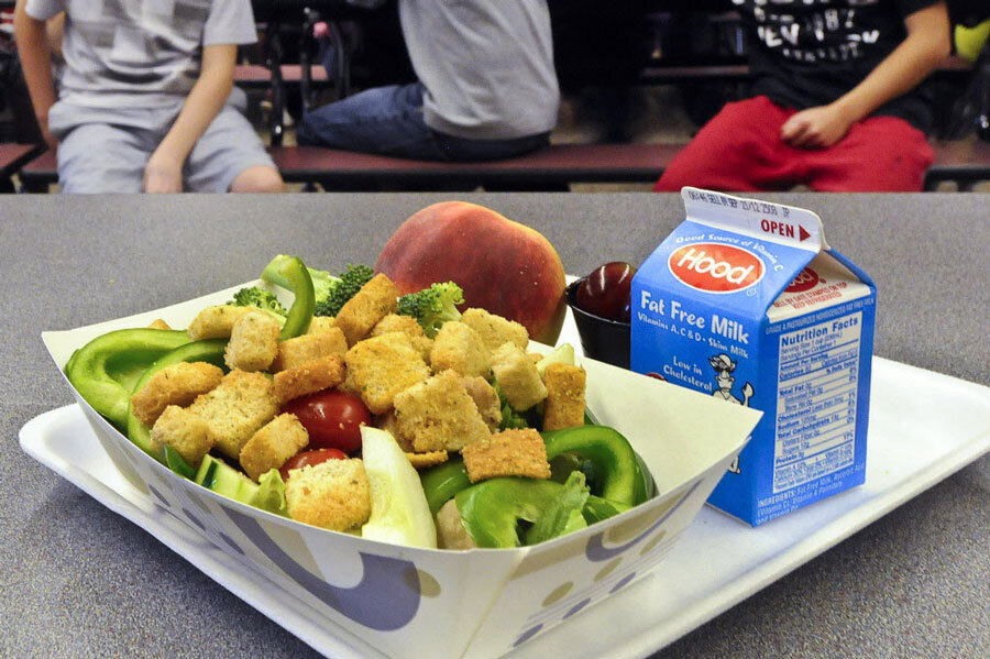 cafeteria lunch food