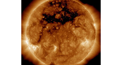 Astronomers spot gigantic 'hole' in sun