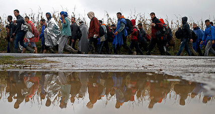 New refugee path through Balkans swamps tiny Slovenia