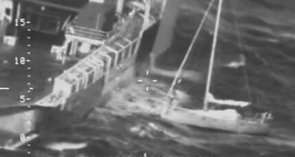 Dramatic rescue video of French sailor and his cat