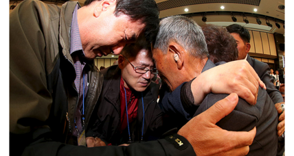 Divided by conflict, North and South Korean families briefly unite