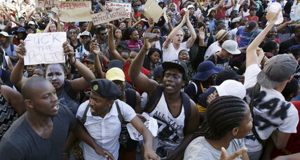 For S. Africa's leaders, a glimpse of their former selves in tuition hike protests