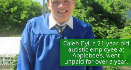 Autistic Applebee's cook to receive first paycheck after year of work