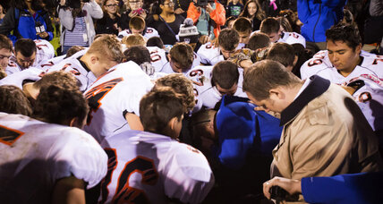 Post-game prayer sidelines high school football coach