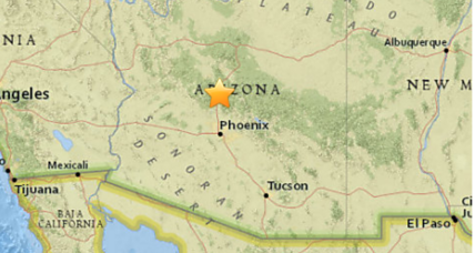 Arizona shaken by rare 4.1 earthquake
