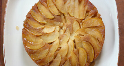 Apple ginger upside down cake