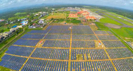 World's first solar airport takes off in southern India