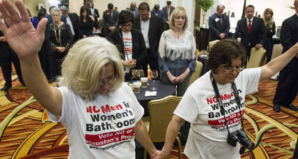 Houston votes down LGBT rights ordinance over bathroom clause