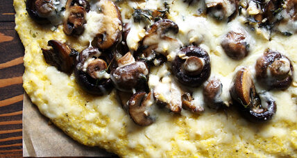Herbed mushrooms on polenta with white cheddar