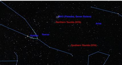 Check out the dazzling Taurid meteor showers
