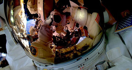 Go along as astronauts conduct spacewalk on today's live webcast