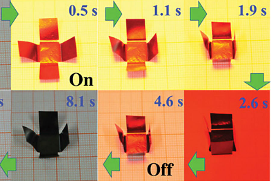 How researchers made self-folding origami with graphene paper