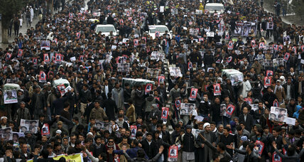 Afghan guards open fire at Kabul rally over Hazara slayings