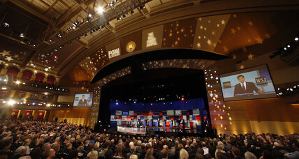 The GOP debate showed signs of division over conservatism