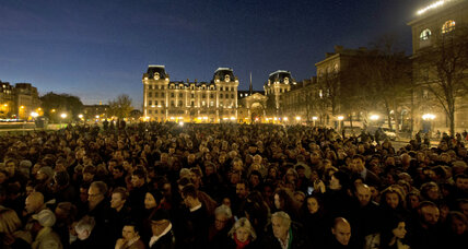 In churches, plazas, playgrounds, Parisians find strength in gathering