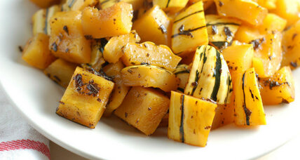 Thanksgiving side: cider-glazed delicata squash