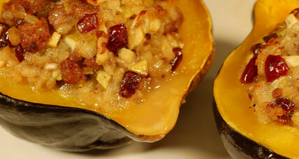 Thanksgiving side dish: stuffed acorn squash