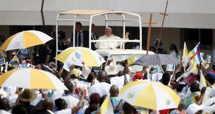 Amid heavy security, pope visits C. African Republic mosque