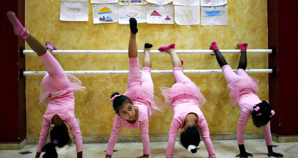 A picture of pirouettes and pink at Gaza's only ballet school