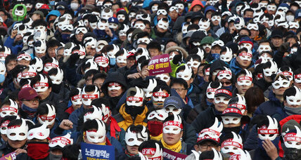 Thousands of South Koreans march in protest against nation's president