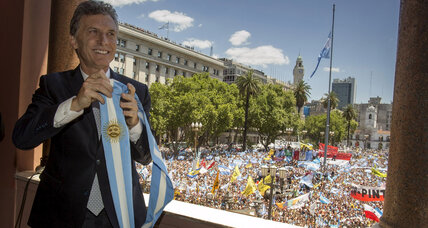 New Argentine president sworn in, promising big changes