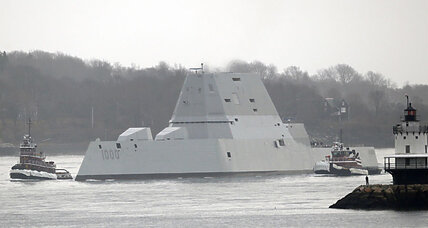 New Navy stealth destroyer rescues Maine fisherman