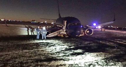 Southwest Airlines flight skids off taxiway in Nashville, injuring eight (+video)