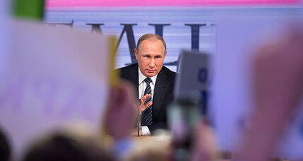 In annual TV marathon, Putin offers Russians a fleeting moment of intimacy