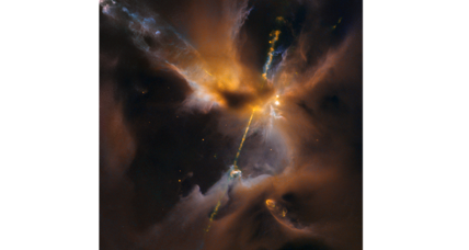 Newborn star shoots 'lightsaber' into space. A cosmic nod to Star Wars?