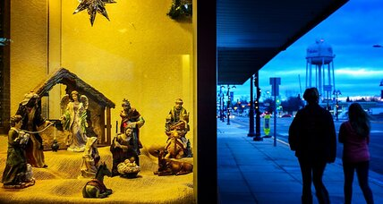 McDonald's window Nativity scene: Salvo in the 'Christmas wars'?