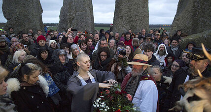 Who are those people at Stonehenge celebrating the Winter Solstice?