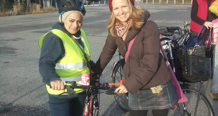 Syrian women in Germany learn to ride bikes for the first time