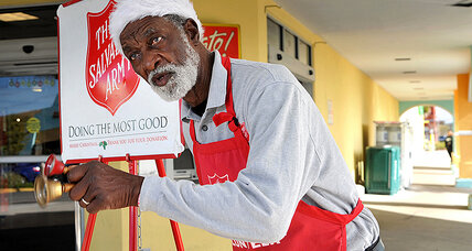 Salvation Army's top bell ringer charms donors with voice