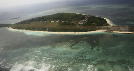 Filipino protesters land on disputed island in South China Sea