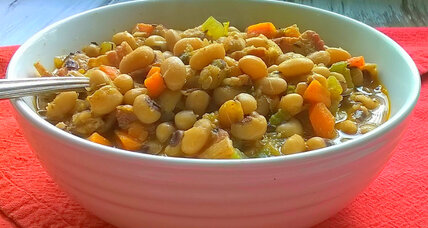 Homestyle black-eyed peas