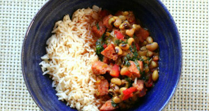 Black-eyed pea and collard gumbo
