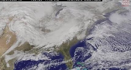 East Coast blizzard: NASA satellites show lumbering beast  (+video)