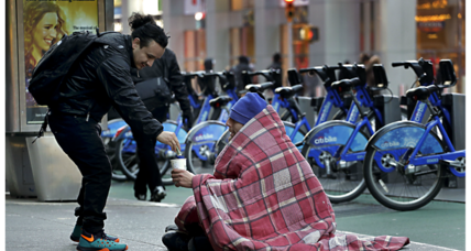 Amid cold weather, two different visions for helping New York's homeless