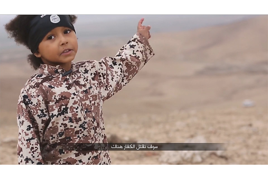 Whose responsibility is the child in that ISIS propaganda video
