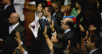 Yelling, walkout mark first session of Venezuela's new Congress